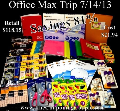 OfficeMax Trip on 7-14
