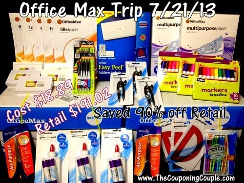 OfficeMax Shopping Trip on 7-21