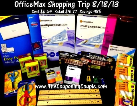 OfficeMax Shopping Trip on 8-18