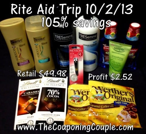 Rite-Aid Shopping Trip on 10-2