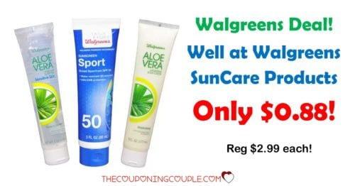 Walgreens Suncare Products