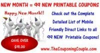 99 NEW Printable Coupons to Start September