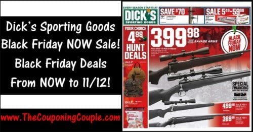 Dicks Sporting Goods Black Friday NOW Sale ~ 11/6 to 11/12!