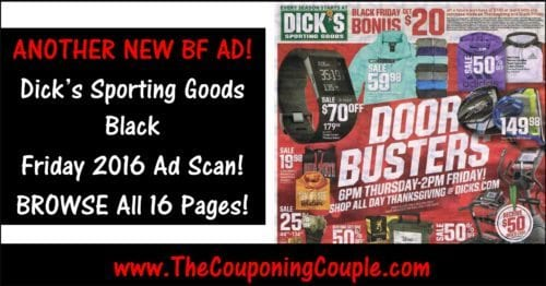 Dick's Sporting Goods Black Friday 2016 Ad