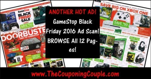 GameStop Black Friday 2016 Ad