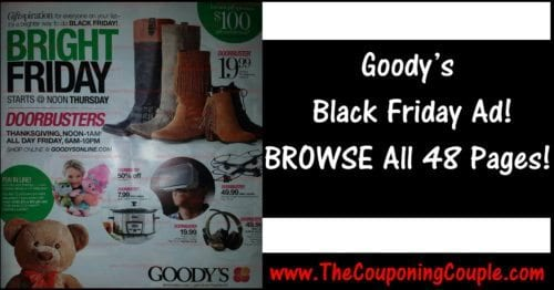 Goody's Black Friday Ad ~ BROWSE All 48 Pages!