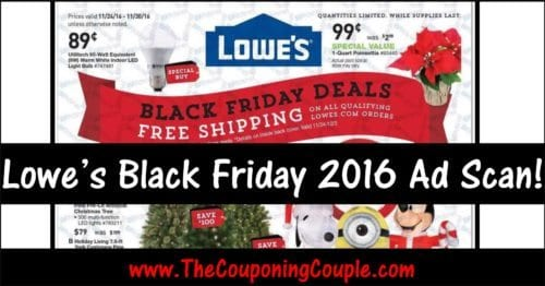 Lowe's Black Friday 2016 Ad Scan