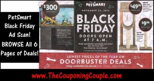 PetSmart Black Friday Ad Scan 2016
