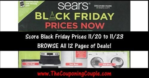 Sears Black Friday NOW Ad Scan 2016