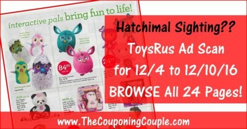 ToysRus Ad Scan for 12-4 to 12-10-16