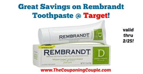 Great Savings on Rembrandt Toothpaste
