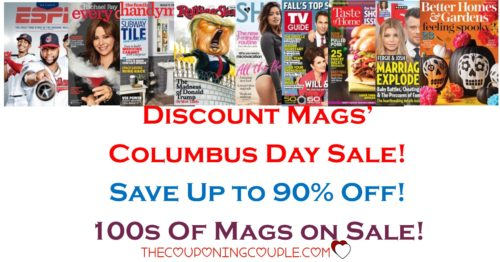 Discount Mags Columbus Day Sale