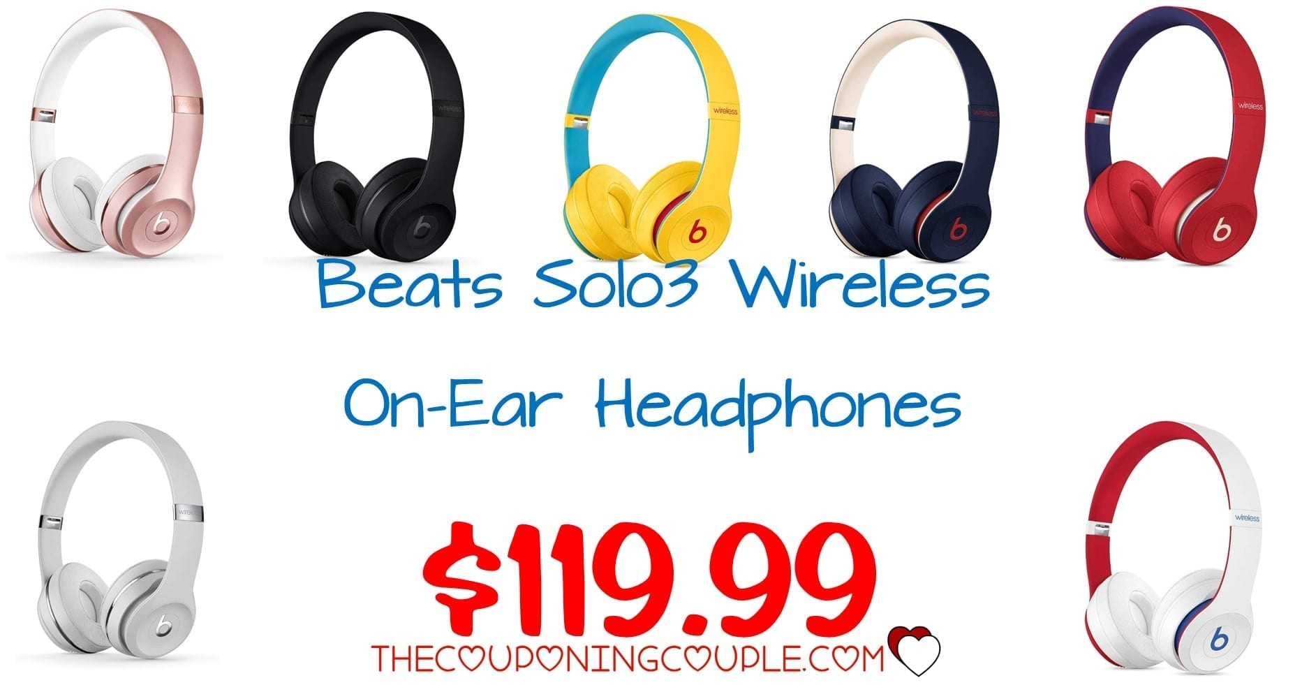 BEST PRICE! Beats Solo3 Wireless Headphones - ONLY $119.99!