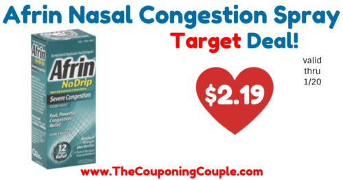 Quick Deal on Afrin Nasal Congestion Spray