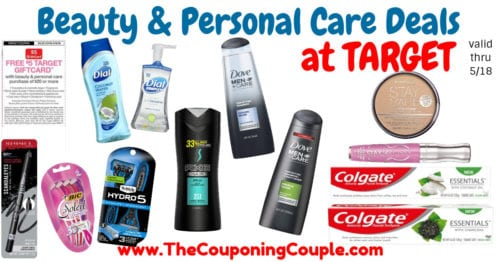 FREE $5 Target Gift Card wyb Beauty & Personal Care