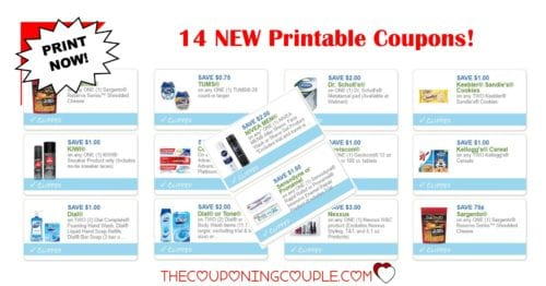 14 new printable coupons