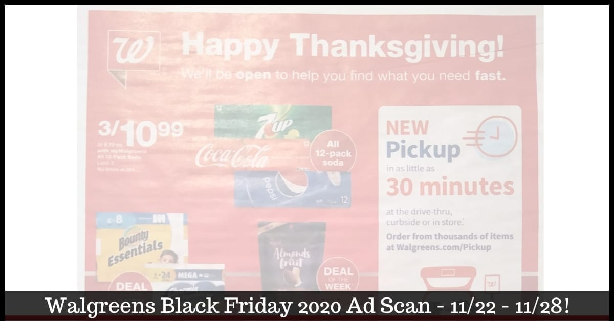 Walgreens Black Friday Ad 2020 ~ BROWSE the Black Friday 2020 Deals!