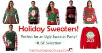 TODAY ONLY! Up to 40% Off on Ugly Holiday Sweaters! BIG SELECTION