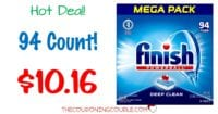 Finish All in 1 Powerball Dishwashing Tabs 94ct MEGA pack $10.16!