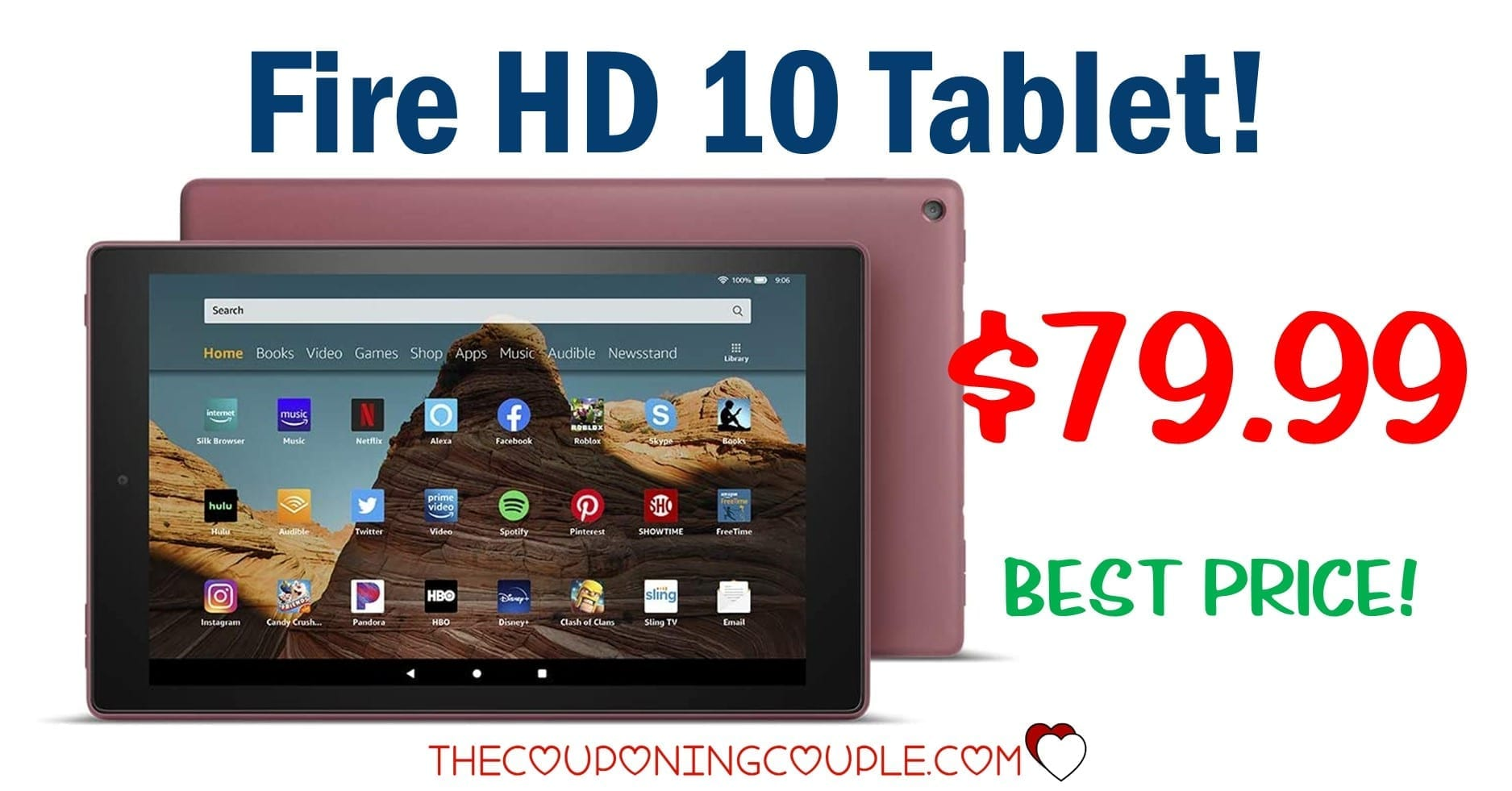 HOT PRICE! Fire HD 10 Tablet ONLY $79.99! (Save $70!)