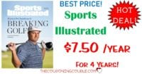 HOT DEAL! Sports Illustrated Magazine- ONLY $7.50 per Year for 4 Years!