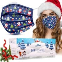 50 Disposable Christmas Masks - ONLY $8.47 with Coupon Code!