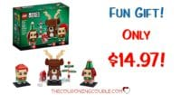 LEGO Brickheadz Reindeer, Elf and Elfie = $14.97! 281 Pieces!