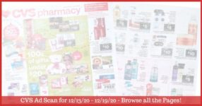 CVS Ad Preview (12/13/20 - 12/19/20): Early CVS Weekly Ad Preview