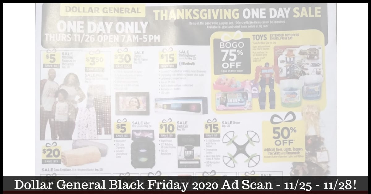 Dollar General Black Friday Ad 2020 Is Now Leaked ~ BROWSE the Ad!