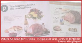 Publix Ad Preview 11/18/20 - 11/24/20 (or 11/19-11/25/20 for Some)