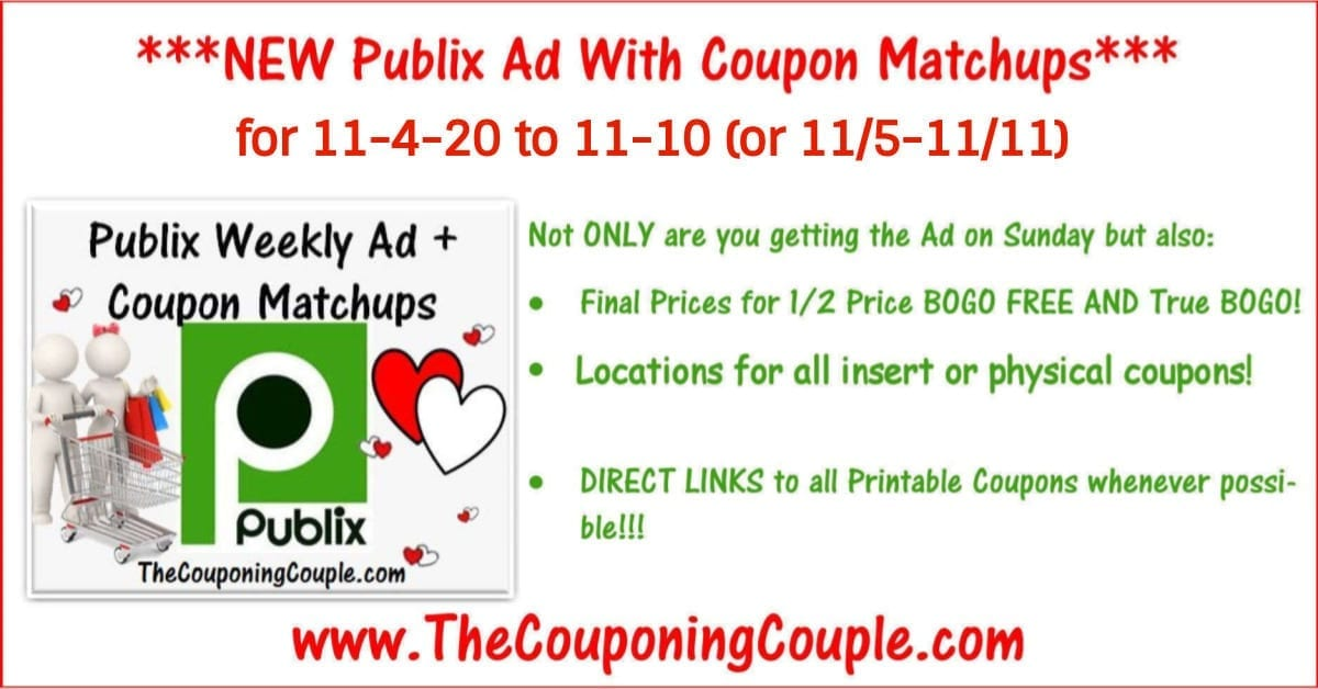 Publix Coupon Matchups for 11-4-20 to 11-10 (or 11/5-11/11)