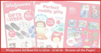 Walgreens Ad (11/22/20 - 11/28/20): EARLY Walgreens Ad Preview